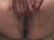 Chubby wife spreads her hole for a throbbing pole